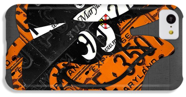 Baltimore Orioles Vintage Baseball Logo License Plate Art IPhone 5c Case by Design Turnpike