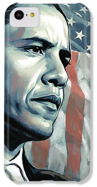 Barack Obama Artwork 2 B IPhone 5c Case by Sheraz A