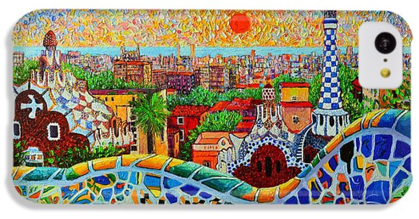 Barcelona View At Sunrise - Park Guell  Of Gaudi IPhone 5c Case by Ana Maria Edulescu