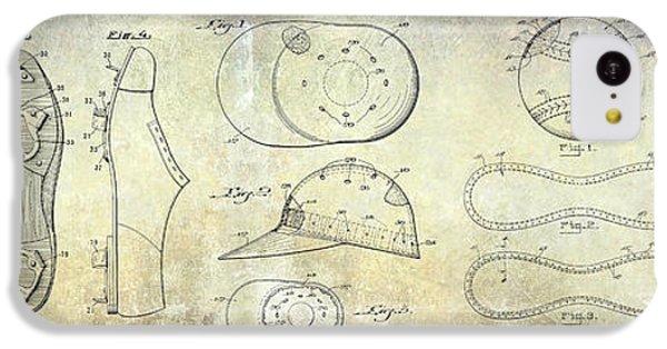 Baseball Patent Panoramic IPhone 5c Case by Jon Neidert