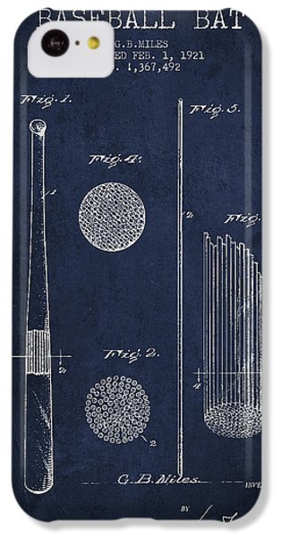 Baseball Bat Patent Drawing From 1921 IPhone 5c Case by Aged Pixel