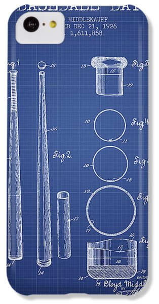 Baseball Bat Patent From 1926 - Blueprint IPhone 5c Case by Aged Pixel