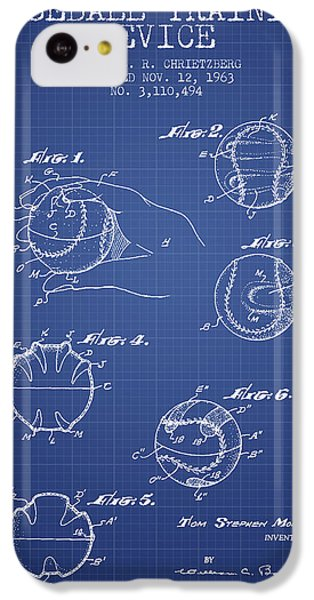 Baseball Cover Patent From 1963- Blueprint IPhone 5c Case by Aged Pixel