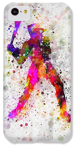 Baseball Player - Holding Baseball Bat IPhone 5c Case by Aged Pixel