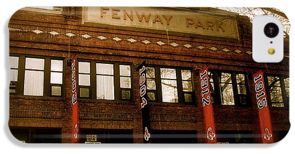 Baseballs Classic  V Bostons Fenway Park IPhone 5c Case by Iconic Images Art Gallery David Pucciarelli