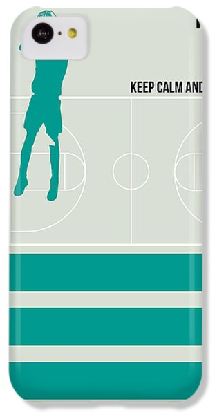 Basketball Poster IPhone 5c Case by Naxart Studio