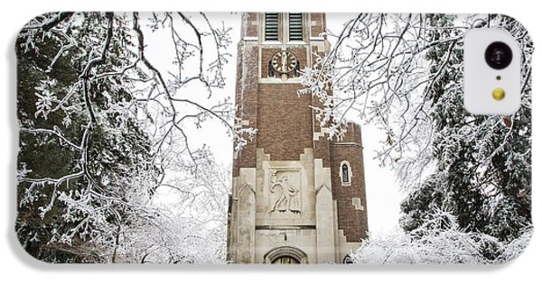 Beaumont Tower Ice Storm  IPhone 5c Case by John McGraw