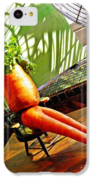 Beer Belly Carrot On A Hot Day IPhone 5c Case by Sarah Loft
