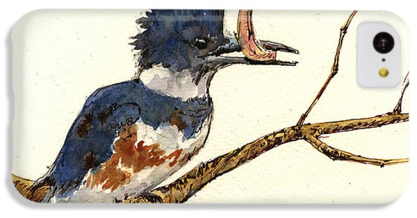 Belted Kingfisher Bird IPhone 5c Case by Juan  Bosco