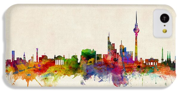 Berlin City Skyline IPhone 5c Case by Michael Tompsett