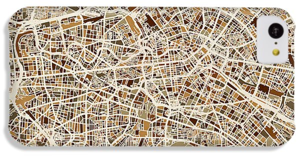 Berlin Germany Street Map IPhone 5c Case by Michael Tompsett