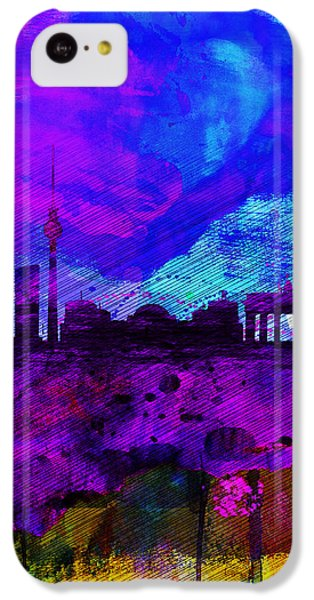 Berlin Watercolor Skyline IPhone 5c Case by Naxart Studio