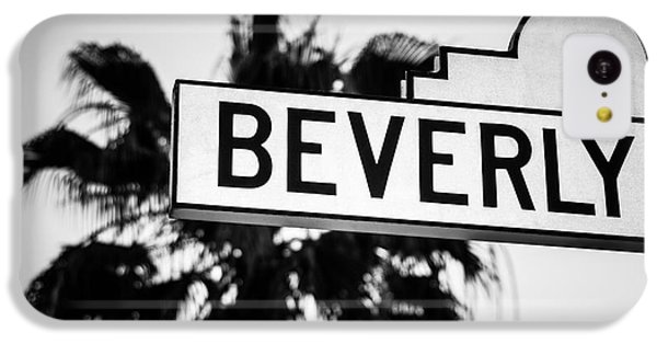 Beverly Boulevard Street Sign In Black An White IPhone 5c Case by Paul Velgos