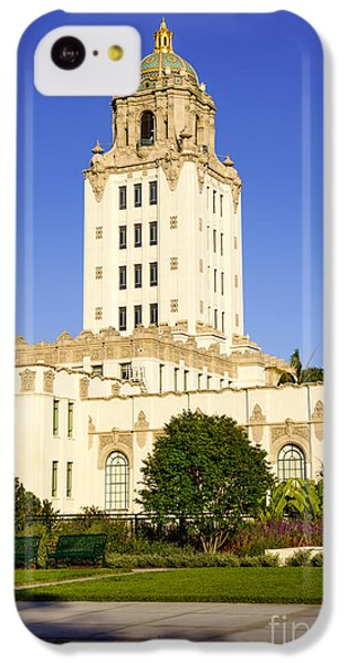 Beverly Hills Police Station IPhone 5c Case by Paul Velgos