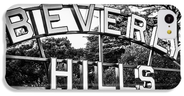 Beverly Hills Sign In Black And White IPhone 5c Case by Paul Velgos