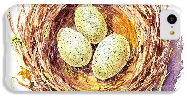 Bird Nest A Happy Trio IPhone 5c Case by Irina Sztukowski