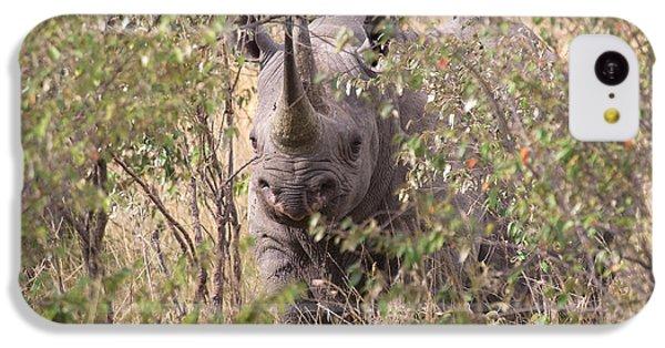 Black Rhino  IPhone 5c Case by Chris Scroggins