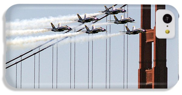 Blue Angels And The Bridge IPhone 5c Case by Bill Gallagher
