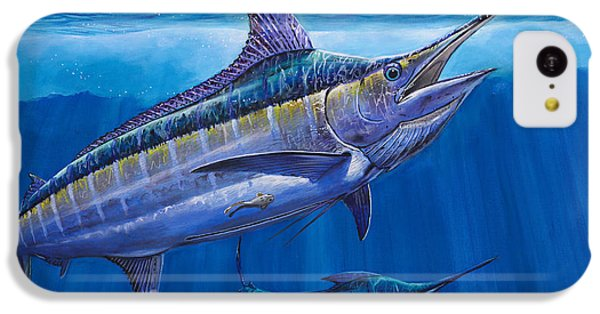 Blue Marlin Bite Off001 IPhone 5c Case by Carey Chen