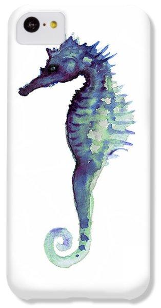 Blue Seahorse IPhone 5c Case by Joanna Szmerdt