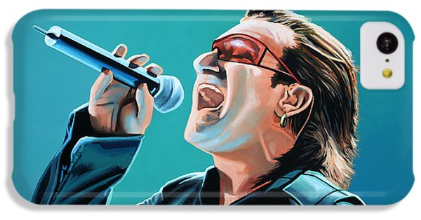 Bono Of U2 Painting IPhone 5c Case by Paul Meijering