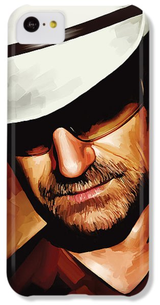 Bono U2 Artwork 3 IPhone 5c Case by Sheraz A