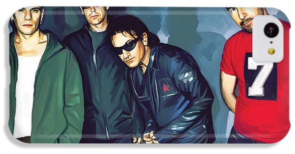 Bono U2 Artwork 5 IPhone 5c Case by Sheraz A