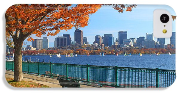 Boston Charles River In Autumn IPhone 5c Case by John Burk