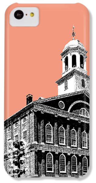Boston Faneuil Hall - Salmon IPhone 5c Case by DB Artist