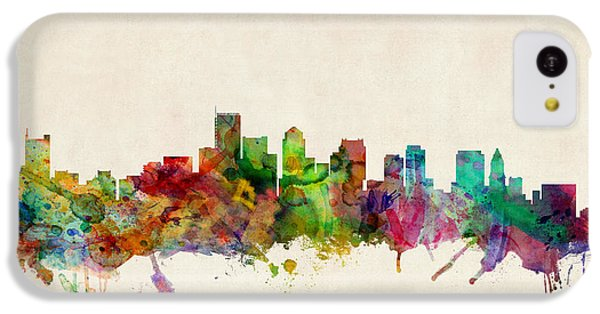 Boston Massachusetts Skyline IPhone 5c Case by Michael Tompsett