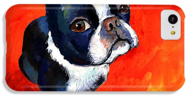 Boston Terrier Dog Painting Prints IPhone 5c Case by Svetlana Novikova