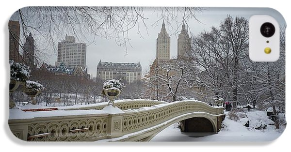 Bow Bridge Central Park In Winter  IPhone 5c Case by Vivienne Gucwa