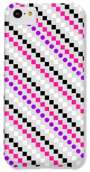 Boxed Stripe IPhone 5c Case by Louisa Hereford