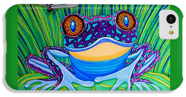 Bright Eyed Frog IPhone 5c Case by Nick Gustafson