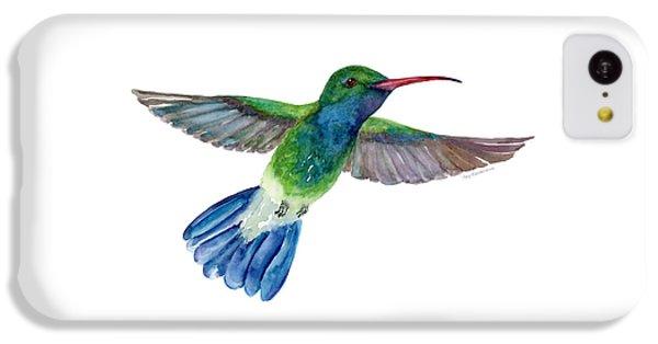 Broadbilled Fan Tail Hummingbird IPhone 5c Case by Amy Kirkpatrick