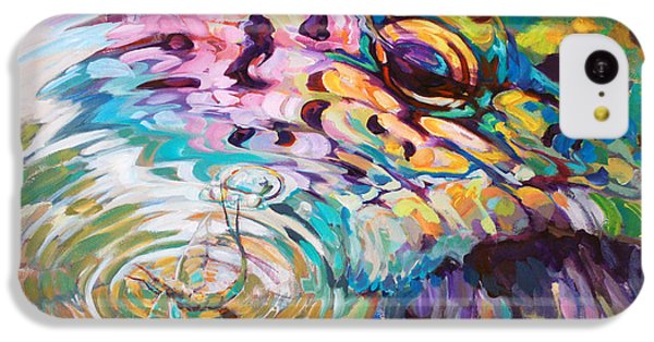 Brown Trout And Mayfly - Abstract Fly Fishing Art  IPhone 5c Case by Savlen Art