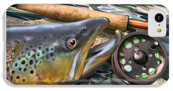 Brown Trout Sunset IPhone 5c Case by Craig Tinder