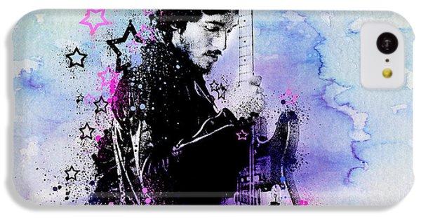 Bruce Springsteen Splats And Guitar 2 IPhone 5c Case by Bekim Art