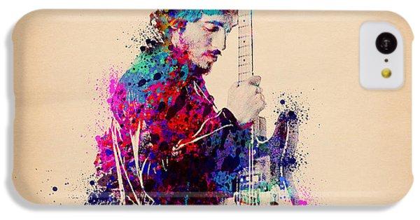 Bruce Springsteen Splats And Guitar IPhone 5c Case by Bekim Art