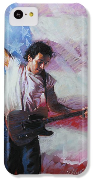 Bruce Springsteen The Boss IPhone 5c Case by Viola El