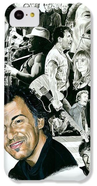 Bruce Springsteen Through The Years IPhone 5c Case by Ken Branch