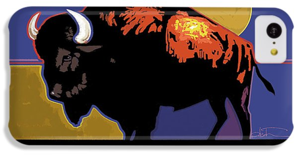 Buffalo Moon IPhone 5c Case by R Mark Heath
