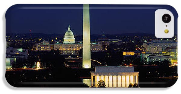 Buildings Lit Up At Night, Washington IPhone 5c Case by Panoramic Images