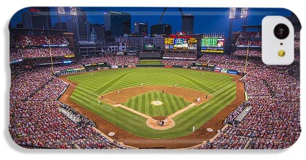 Busch Stadium St. Louis Cardinals Night Game IPhone 5c Case by David Haskett