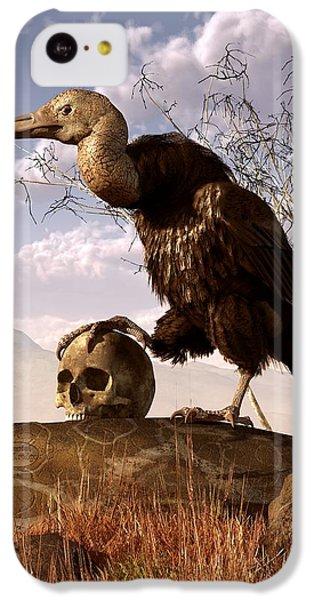 Buzzard With A Skull IPhone 5c Case by Daniel Eskridge
