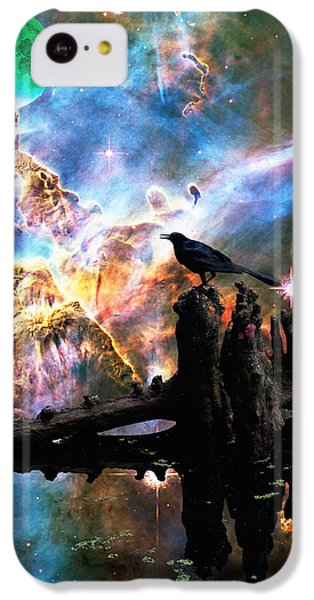Calling The Night - Crow Art By Sharon Cummings IPhone 5c Case by Sharon Cummings