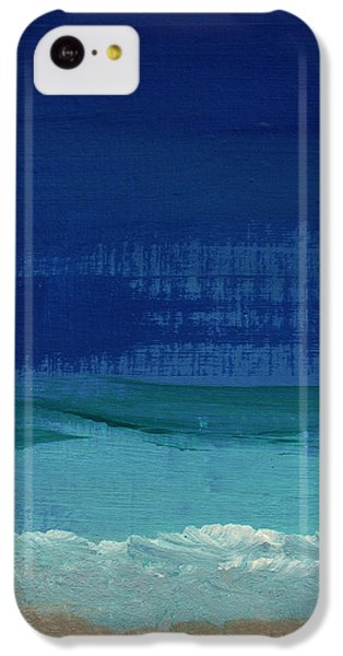 Calm Waters- Abstract Landscape Painting IPhone 5c Case by Linda Woods