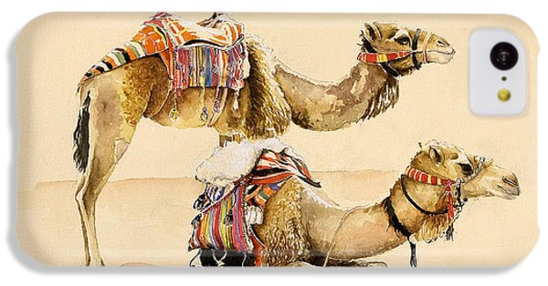 Camels From Petra IPhone 5c Case by Alison Cooper