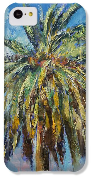 Canary Island Date Palm IPhone 5c Case by Michael Creese