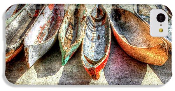 Canoes IPhone 5c Case by Debra and Dave Vanderlaan